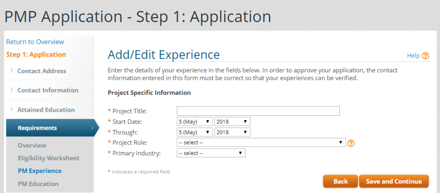 10- Application Experience 1